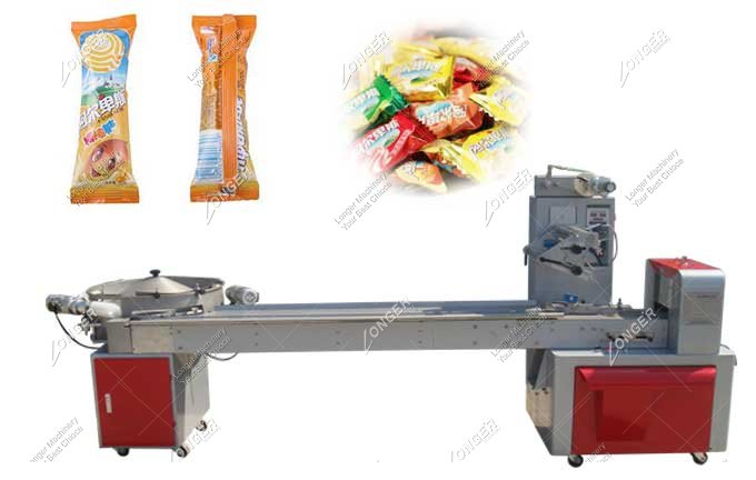Automatic Horizontal Candy Bar Packaging Machine For Sale