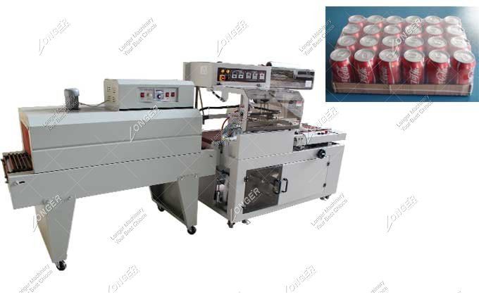 Commercial L Sealer Heat Tunnel Book Shrink Wrap Machine
